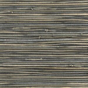 Real Natural Triangle Grasscloth Wallpaper MPC010 charcoal gray 72 sq ft