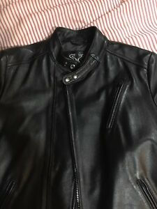 mens Lambskin leather motorcycle jacket Small