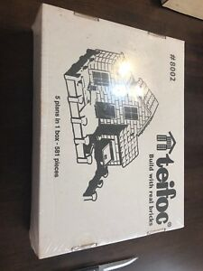 Teifoc #8002 5 Plans-in-One 581pc Universal Real Brick Construction Set Sealed