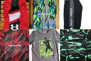 UNDER ARMOUR BOYS YOUTH EXTRA SMALL~ SHORTS ~ TOPS ~ SUMMER 6PC ~BRAND NEW $158