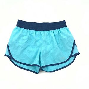 CHAMPION Womens Running Shorts Size Small Aqua Blue Lined Laser Cut Perforated