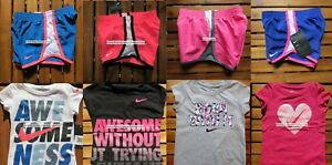 NIKE GIRLS 2T ~ 3T ~ 4T * 8pc ~ DRI-FIT  SHORTS ~ T-SHIRTS ~ Summer $172 Purple