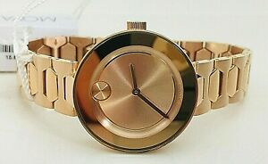 NWT MOVADO BOLD Women Watch ROSE GOLD SS Bracelet Museum 32MM SWISS 3600387 $695
