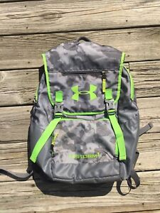Under Armour UA Storm 1 Recuit Backpack Camo Gray Paratrooper 1265841