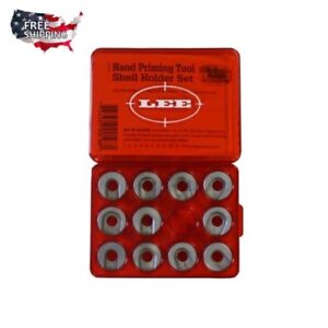 Lee Precision Hand Priming Tool Auto Shell Holder Set 11 shell holders and chart