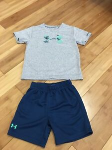 Dry -Fit under armour Boys 4t Set - Shorts And T-shirt