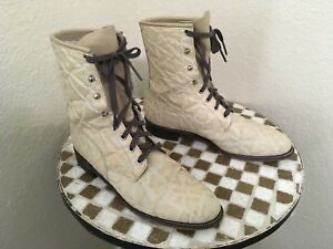 USA VINTAGE JUSTIN BONE IVORY LEATHER TRUCKER WORK BOOTS 9 B