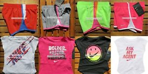 NIKE GIRLS 2T ~ 3T ~ 4T * 8pc ~ NIKE TEMPO RUNNING SHORTS ~T-SHIRTS Summer $172