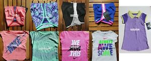 NIKE GIRLS 2T ~ DRI-FIT RUNNING SHORTS ~ TOPS ~ NEW W TAGS ~ DRESS  PURPLE $207