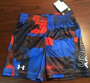 NWT Under Armour Heat Gear Toddler Boys Athletic Shorts Size 18 Months.