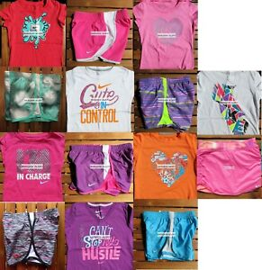 NIKE GIRLS SIZE 6X ~ TEMPO RUNNING SHORTS ~ T-SHIRTS ~ 12PC ~ NWT ~ $311 ~ SKORT