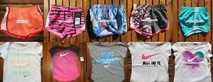 NIKE GIRLS 4T ~ 10 Pieces ~SUMMER TEMPO DRI-FIT RUNNING SHORTS  T-SHIRTS ~  $230