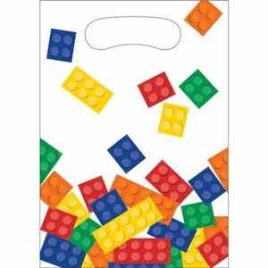 LEGO Blocks Party Construction party bags tablecover napkins Candles