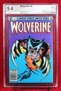 WOLVERINE LIMITED SERIES #2 PGX 9.4 NM Near Mint - signed STAN LEE!!!