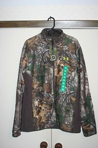 Under Armour Storm Stealth Fleece Woodland Camo Jacket Men XL Hunting Loose NWT