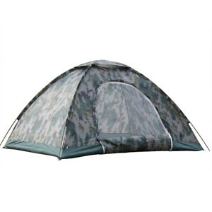 2-4 Person Waterproof Outdoor Camping 4 Season Folding Tent Camouflage Hiking