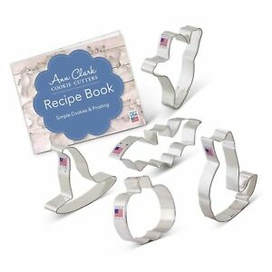 Halloween Trick or Treat Cookie Cutter Set with Recipe Book - 5... Free Shipping