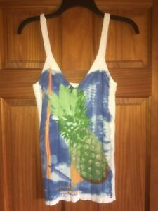 """Tommyy Hilfiger Jeans """"Tropical Paradise"""" Size Medium Summer Camisole/ Tank"""