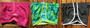 GIRLS NIKE ~ SIZE SMALL ~ NIKE TEMPO RUNNING SHORTS ~ 3PC~ PINK BLACK GREEN $81