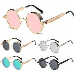 Vintage Retro Steampunk Sunglasses Goggle Classic Fashion Round Designer Glasses