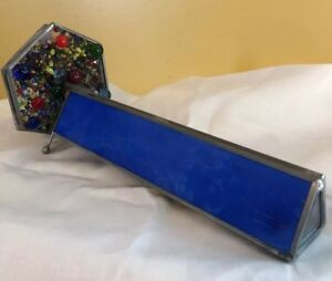 Vintage Stained Glass Style Kaleidoscope With Double Wheels