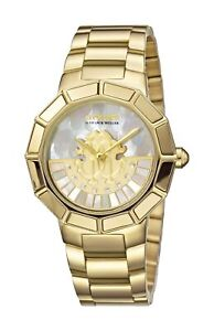 Roberto Cavalli Women#x27;s RV2L011M0086 ROTATING DIAL Diamonds IPYG Steel Watch
