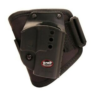 Fobus GL43NDA Tactical Black Suede Right Hand Ankle Holster For Glock 43