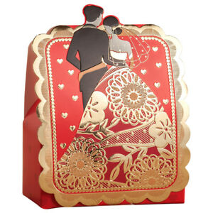 Wholesale Bride and Groom Wedding Favor Candy Box Cookie Boxes