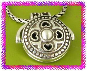 BRIGHTON CELTIC Round Swing Pendant Silver Retired NECKLACE NWotag