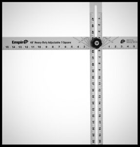 EMPIRE Adjustable T Square 48 Inch Measuring Layout Marking Ruler Carpenter Tool $33.97