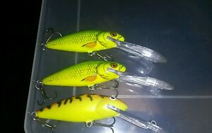 Lot of 6 fishing lures SALMO  SUPER DEEP RUNNER Floater