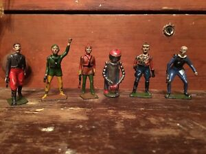 RARE 1936 Buck Rogers 6 Lead Figures - Britain's For J Dille England