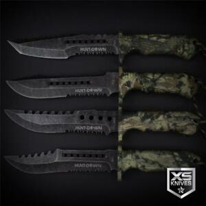 Tactical STONEWASHED Combat CAMO Bowie Survival FIRE STARTER Hunting Knife 12
