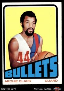 1972 Topps #120 Archie Clark  Bullets (Wizards) EX