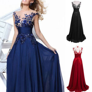 US Women Formal Wedding Bridesmaid Long Evening Party Ball Prom Cocktail Dress