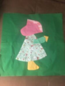Holly Hobby Girl Quilting Square $7.50