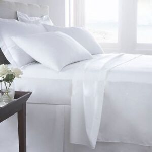 1000 Thread Count Egyptian Cotton Deep Pocket Bedding Item All Sizes White Solid