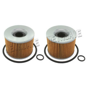 2x Oil Filter For HONDA CB350F CB400F CB500K CB650 CB1000C CB1100F Motorcycle