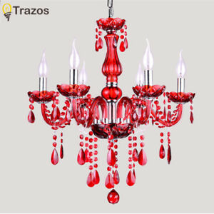Modern red crystal chandelier Luxury crystal light Fashion crystal ch