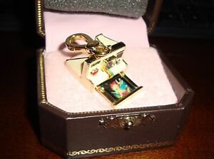 NEW JUICY COUTURE VINTAGE POLAROID CAMERA CHARM FOR BRACELET NECKLACE KEYCHAIN