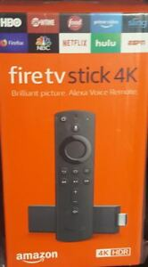 NEW Amazon Fire TV Stick 4K with Alexa Voice Remote Streaming Media - Black