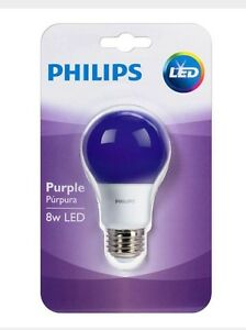 Philips Purple Light Bulb LED 8 W Porch  Party Lights Up Purple Halloween Party