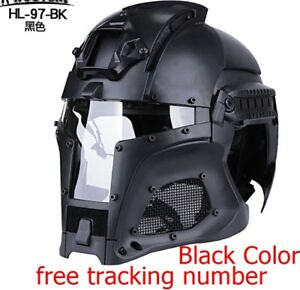 TACTICAL FULL COVER FOR WARGAME SHOOTING MILITARY PAINTBALL WITH PC LENS HELMET