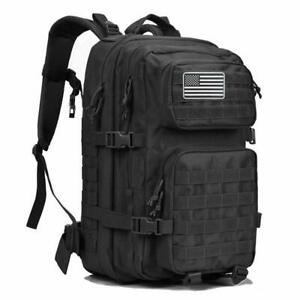 Large Military Tactical Backpack Army 3 day Assault Pack Molle Rucksack Flag 40L