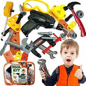 Skoolzy Kids Tool Set Toddler Toys Construction Montessori Materials with Real