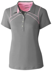 Cutter & Buck Women's Cap Sleeve Self Fabric Collar Sport Polo Shirt. LAK00015