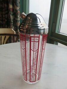 Vintage 1930's Art Deco Domed Cocktail Shaker with Recipes