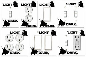 Light and Dark Forces - Graphics Art Toggle/Rocker/GFCI/Outlet Wall Plate