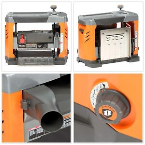 Planer Power Tool 13 in. Thickness Corded Steel Top 3 Blade Cutter Head Stock