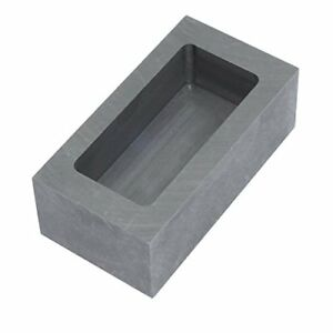 Graphite Ingot Mold Melting Casting Mould for Gold Silver Metal 85x45x30mm -